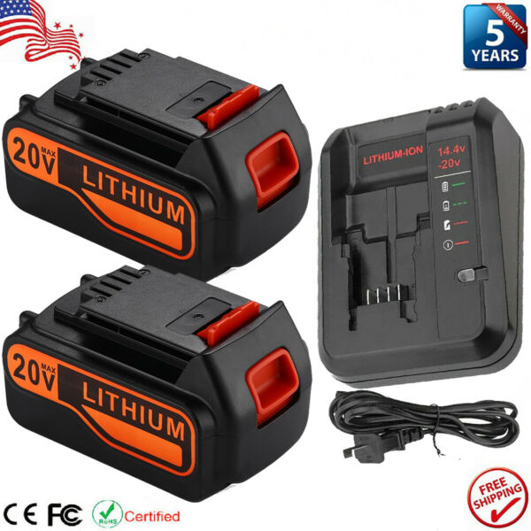 7.0Ah for Black amp; Decker LBXR20 20V Lithium Batteryamp;Charger LB2X4020 LBXR20 OPE