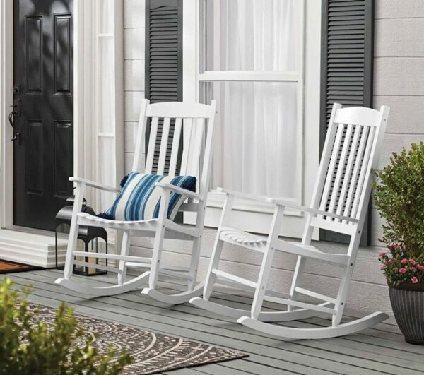 Mainstays Outdoor Wood Porch Rocking Chair Weather Resistant Finish $119.99