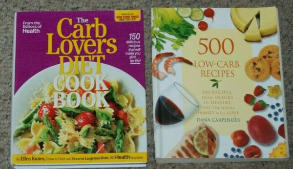 Lot 2 The Carb Lovers Diet 500 Low Carb Recipes Dana Carpender Cookbooks $14.99