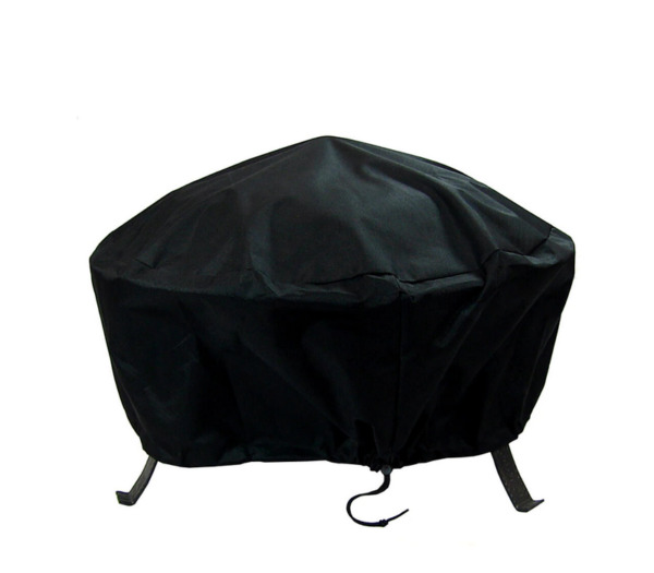 Sunnydaze Round Outdoor Fire Pit Cover Waterproof and Weather Resistant Black