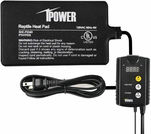 iPower Under Tank Heat pad Digital Thermostat Combo Set for Reptiles Multi Size $31.99