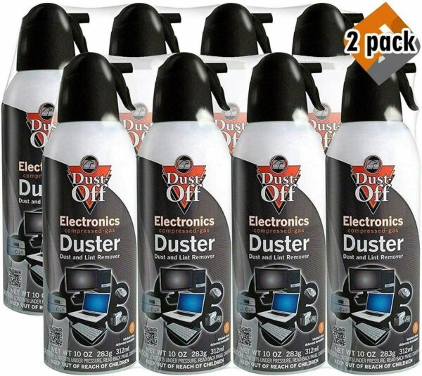 New Canned Air Falcon Dust Off Compressed Computer Gas Duster 10 oz 8 Pack .....