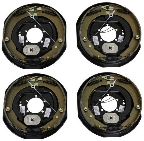 Four 12quot;x2quot; Electric Brake Trailer Self Adjusting Backing Plates 2 Left 2 Right