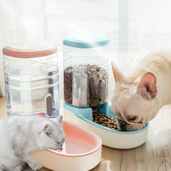 2 Pieces Set Cat Feeding Bowls For Dog Automatic Feeders Dog Water Dispenser Fou $41.99