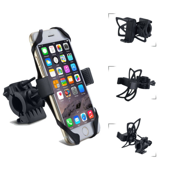 Cell Phone Silicone Mount Holder GPS Motorcycle MTB Bike Bicycle 360 Rotation $6.99