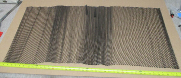 Large 56quot; WIDE X 20quot; TALL Fireplace Mesh Spark Screen Hanging Panels