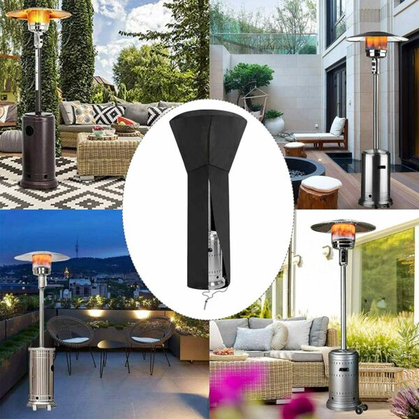 Gas Patio Heater Cover 420D Upgraded Zipper Heavy Duty Outdoor Heater Protector