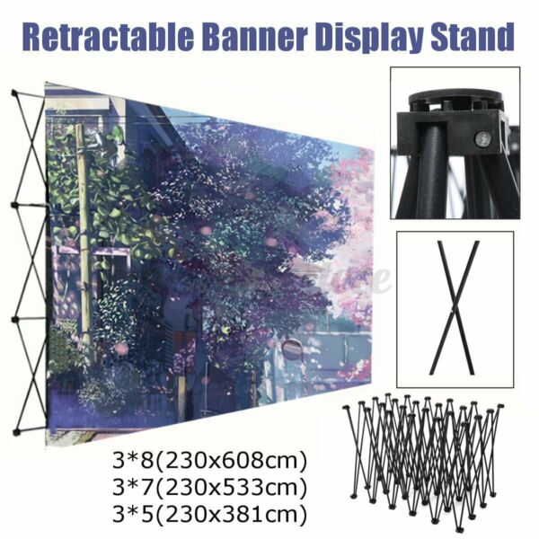 Iron Retractable Stand Wall Frame Wedding Party Backdrop Banner Display Show US $414.02