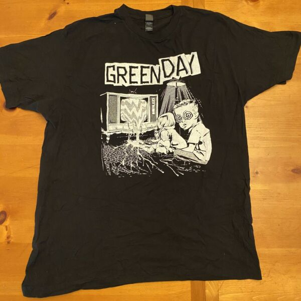 VTG Y2K Green Day American Idiot Dookie InsomniacTour Merch Tee T Shirt Large
