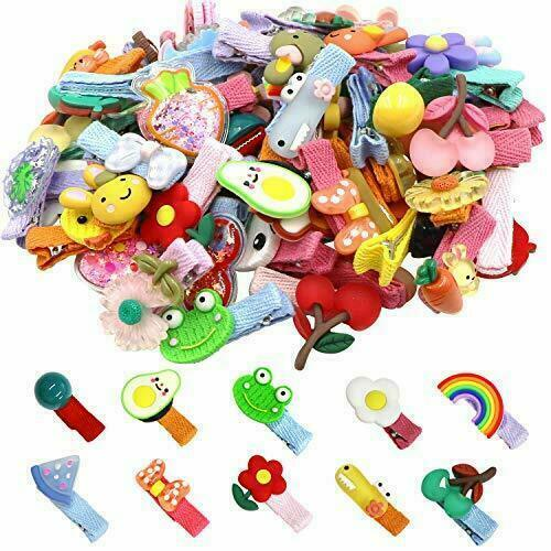 60 Pieces Baby Girls Hair Clips Cute Animal Fruit Flower Pattern Fully Ribbon