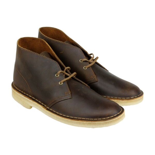 Clarks Desert Boot 26106562 Mens Brown Leather Lace Up Desert Boots