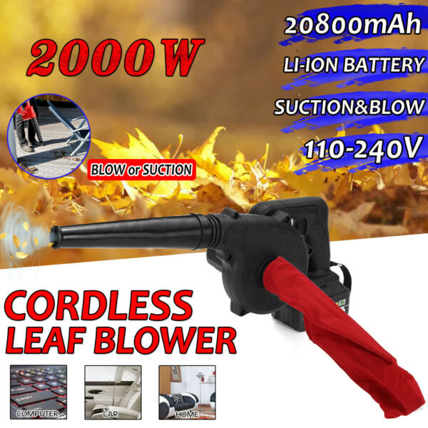 Cordless Leaf Blower w Battery Lawn Yard Suction Dust Sweeper Vacuum Cleaner