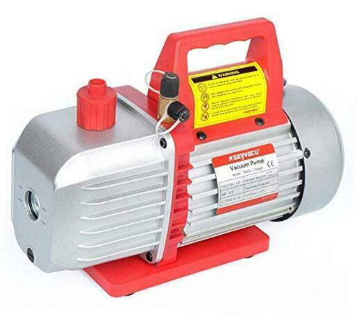 5CFM 2 Stage Rotary Vane Vacuum Pump 5.0CFM 40Micron 1 2HP for HVAC Auto