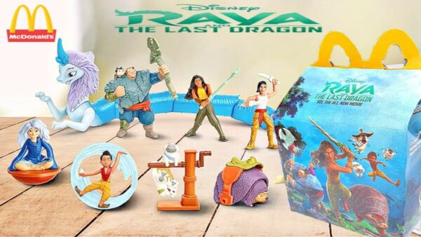 Raya and The Last Dragon Happy Meal Toy Complete set of 8 2021 NEW NIP