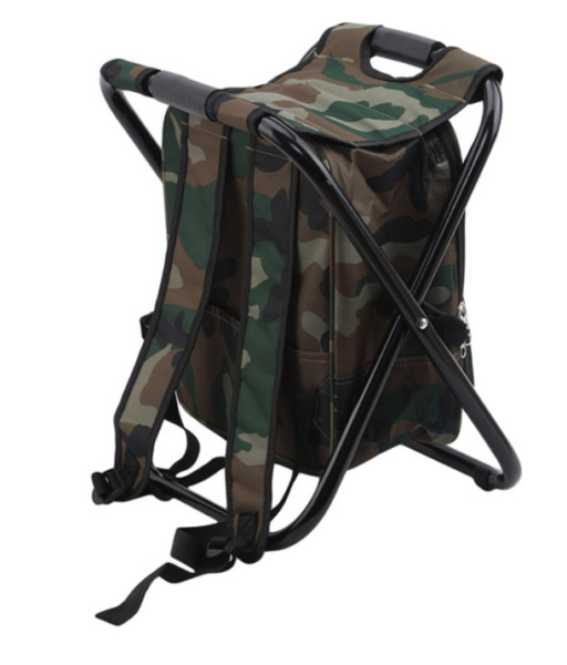 Outdoor Folding Camp Fishing Chair Stool Portable Backpack Cooler Insulated