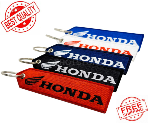 Honda Keychain Key Tag Motorcycle ATV SXS Outboard Double Sided Embroidered FOB $6.95