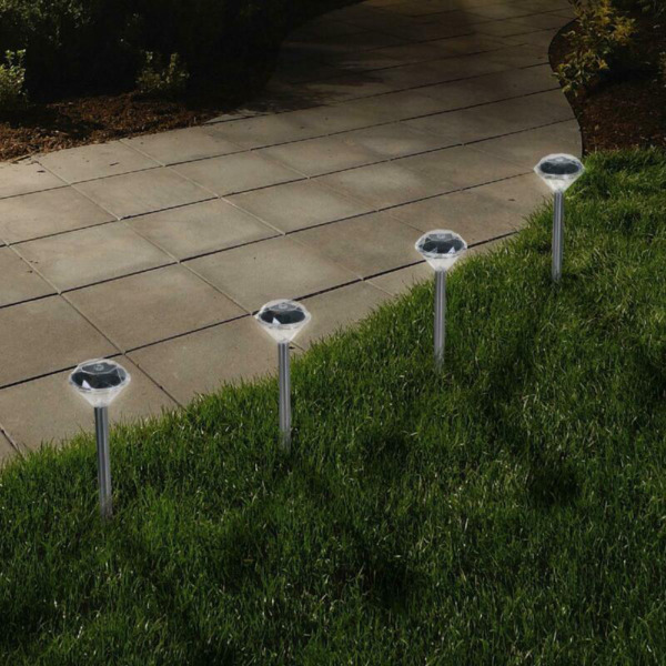 Solar Powered Lights Outdoor Outside Garden Decor Led Decorative Lamp Set 24