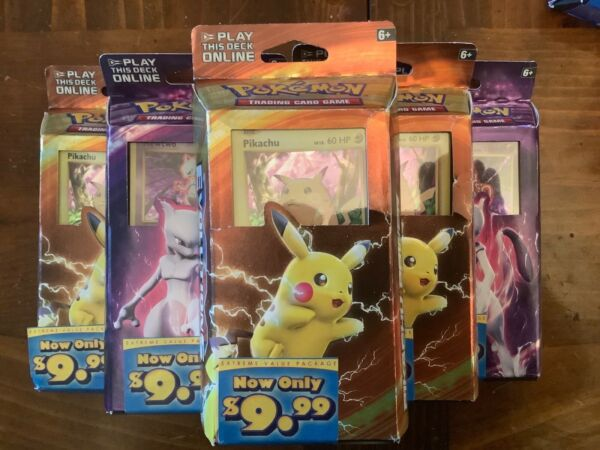 Pikachu Power amp; Mewtwo Mayhem XY Evolutions Theme Deck Pokemon TCG 3 of each