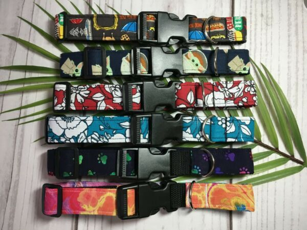 Handmade Dog Collars 1 Inch Side Buckle Adjustable 12#x27;#x27; to 18#x27;#x27; $4.99