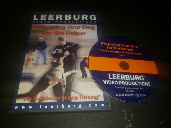 Leerburg Preparing Your Dog For The Helper quot;The Foundation Of Grip Trainingquot; DVD $29.95