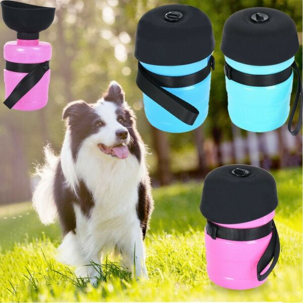 Dog Traveling Water Bottle Portable Kettle Pet Outdoor Drinking Water Cup Feeder $15.47