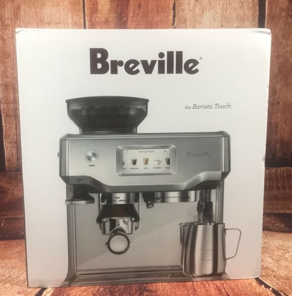 Breville The Barista Touch BES880BSS Espresso Machine Brushed Stainless NEW