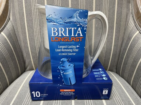 Brita 10 Cup Monterey Water Pitcher with 1 Longlast Filter BPA Free NEW FREESHIP