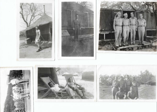 US American GI Soldiers WWII WW2 1940s Bamp;W Photos Military Tents Camp