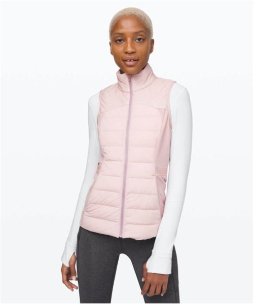 NWT LULULEMON Down For It All Goose Down Vest Porcelain Pink Size 8. $99.00