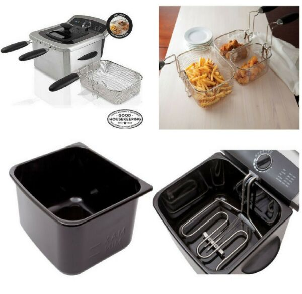 Fryer Deep Stainless Steel Electric Home Countertop Fries Cooker 4l Oil Fat $39.94