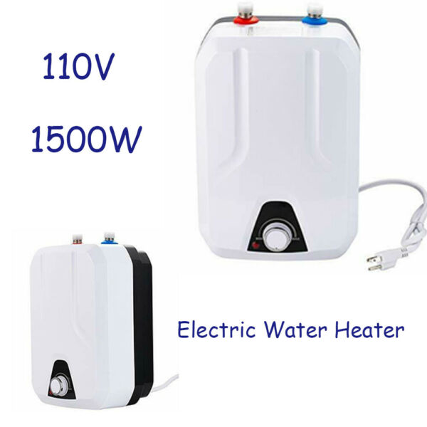 8L Electric Tankless Hot Water Heater Water Instant Heater For Bathroom US $91.02