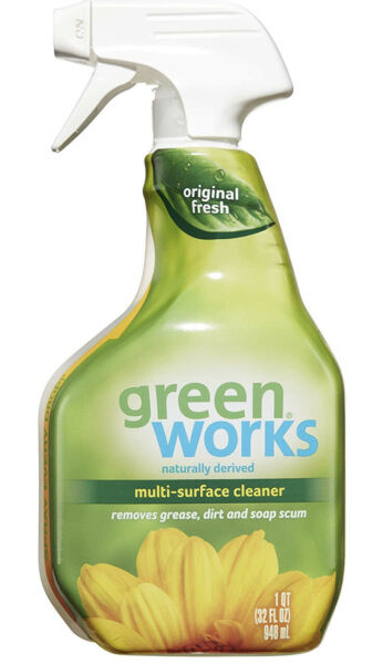 Green Works Multi Surface Cleaner All Natural Cleaning Spray Original Fresh 32Oz $15.99