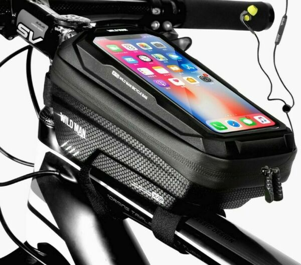 Bicycle Phone Bag Road Accessories Sensitive Touch Screen Front Frame Waterproof $36.09