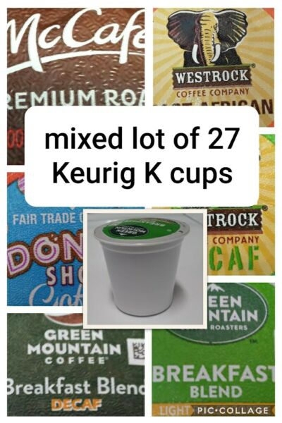 Mixed Lot of 27 Keurig K Coffee Cups McCafe Donut Shops Green Mountain...
