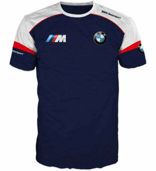 Unisex BMW Motorsport Racing Polyester 3D Full Over Prints T Shirt