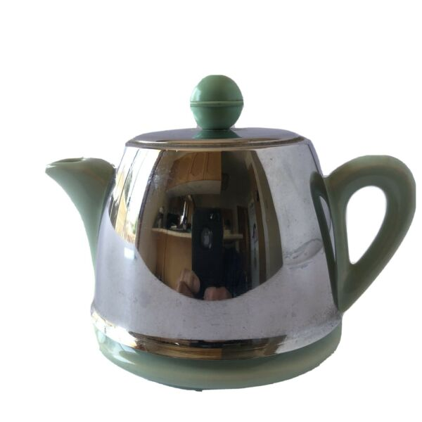 Ceramic Teapot With Stainless Cover Single Serving
