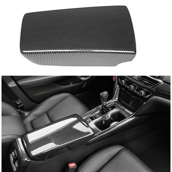 Armrest Box Cover Carbon Fiber Center Console for Honda Accord 2018 2021 Front $22.59