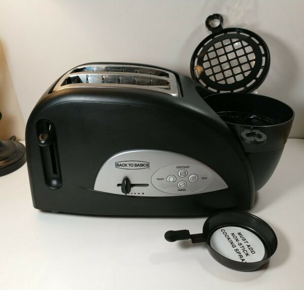 Back To Basics Egg amp; Muffin Two Slice Black Toaster TEM500