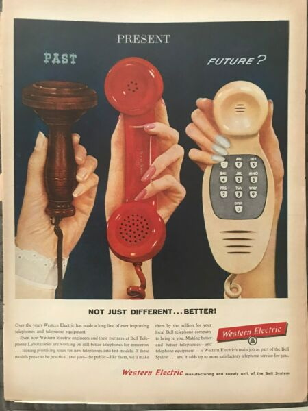 Western Electric Not Just Different...Better Telephone 1959 Vintage Print AD A51 $9.99