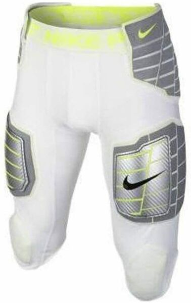 NIKE Hyperstrong Football Pro Combat Girdle Pants w Kneepads White XL