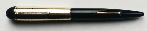 Vintage black Eversharp Skyline fountain pen with lever filler Made in U.S.A.