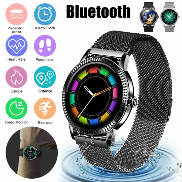 Waterproof Smart Watch Heart Rate Monitor Blood Pressure Oxygen for Android IOS $31.98