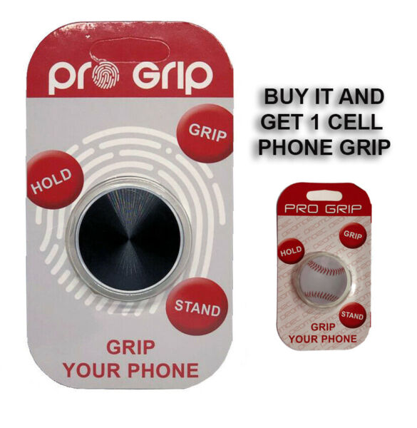 PRO GRIP Metal for Magnetic Car Mount Collapsible Grip amp; Stand for Phones BLACK $6.99