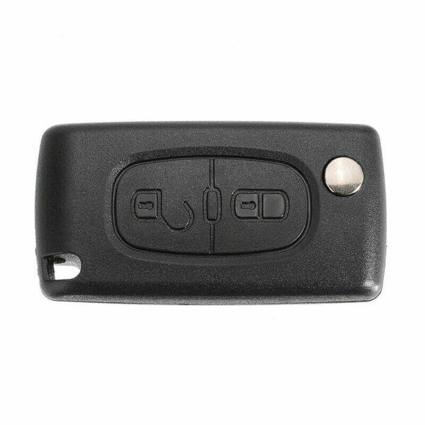 2 Buttons Flip Remote Key Case Blade Shell Fob Fit For Peugeot 207 307 308 408