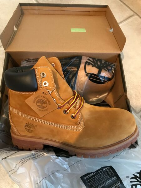 New With Box Wheat Timberland Boots US Men#x27;s Size 12 $99.99