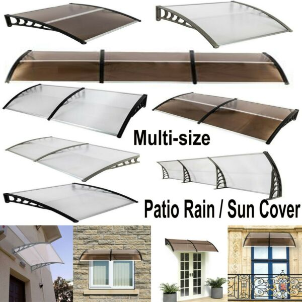Outdoor Door Window Awning Canopy Porch Sun Front Shade Shelter Patio Rain Cover