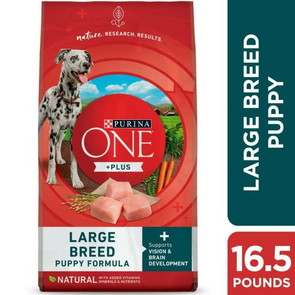 Purina ONE Natural High Protein Large Breed Dry Puppy Food 16.5 lb. Bag $16.50
