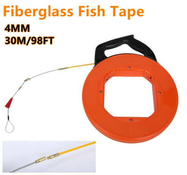 Fiberglass Fish Tape Wire Cable Puller Threader Electrician Electrical Plumber $29.89
