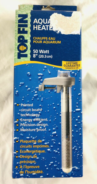 Top Fin Aquarium Heater 50 Watt 8quot; 20.3cm $7.50