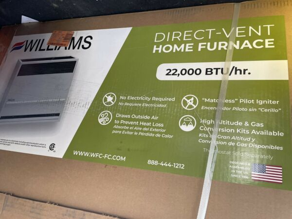 Williams 2203822 16462 BTU Natural Gas Direct Vent Central Furnace Gray $650.00